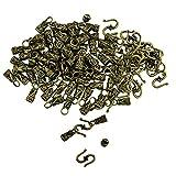 Sharplace 30 Kits de Cierre de Ojo de Material Aleación Accesorios de Bricolaje Manual