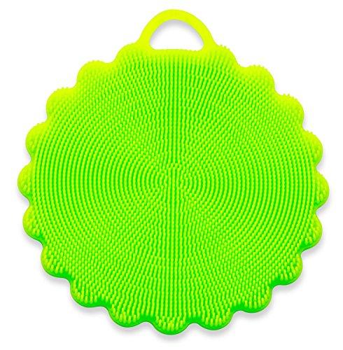 SpülWunder Schwamm DUO - Silikonschwamm und Fusselbürste in verschiedenen Farben (grün)