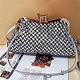 WanJiaMen'Shop Portatile borsa messenger Denim Bao sacchetti clip casual borsetta, 30 * 12 * 25cm,B