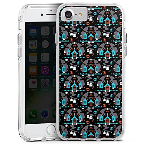 Apple iPhone 6s Plus Bumper Hülle Bumper Case Glitzer Hülle Ghost Geister Nacht Bumper Case transparent