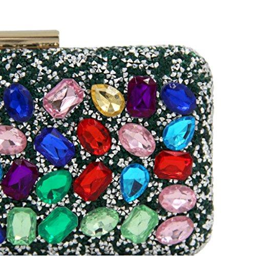 Sacchetto Della Maniglia Del Cristallo Di Diamante Di Alta Qualità Borsa Da Sera Femminile Black