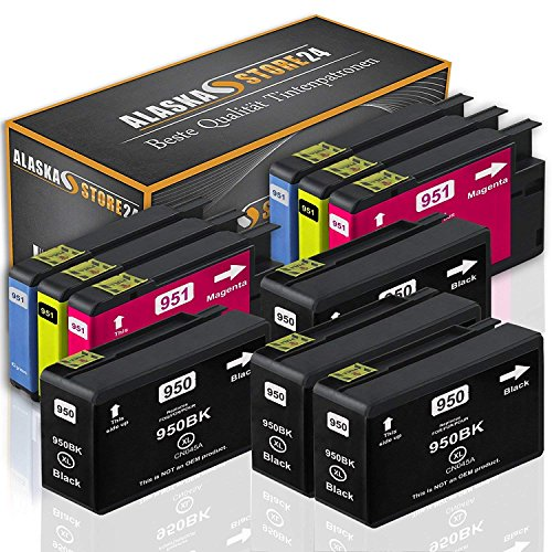 10x Druckerpatronen Komp. für HP 950 XL 950XL 951XL 951 XL Multipack für Officejet Pro 8600 8610 8620 8100 8615 8625 251dw 276dw e-All-in-One Patronen - Plus Hp 10
