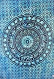 """Traditional Jaipur Tie Dye Floral Elephant Mandala Poster, Indian Wall Decor, Hippie Tapestries, Bohemian Wall Hanging, Gypsy Dorm Room Decorations, Boho Wall Art, Size 30""""x40"""", Good Luck Wall Sticker"""