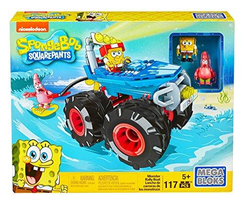 Mattel Mega Bloks DKT71 - Bob Esponja Monster Rally Barco, Colorido