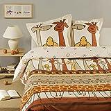 Bettwäsche aus 100% Baumwolle, mit Giraffe, 200 x 200 cm,
