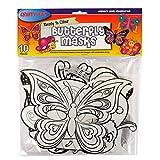 Kinder Bereit zu Farbe Schmetterling Masken, Packung mit 10, 4 Designs enthalten