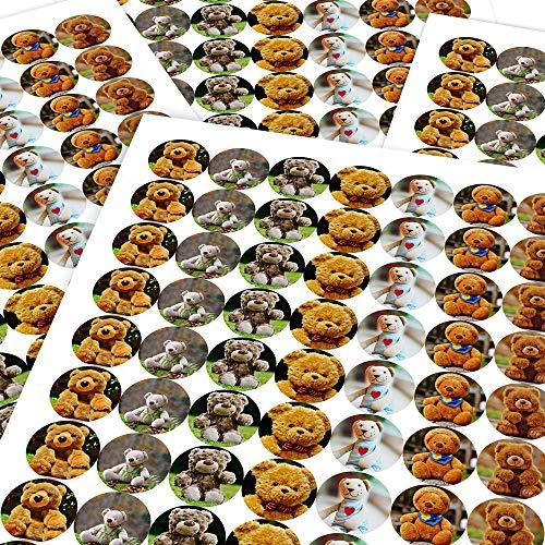 Chunky Hamster Teddy Bears, Reward Sticker Labels (70 Stickers @ 2.5cm) Children, Parents, Teachers (Teddy Bear Hamster)