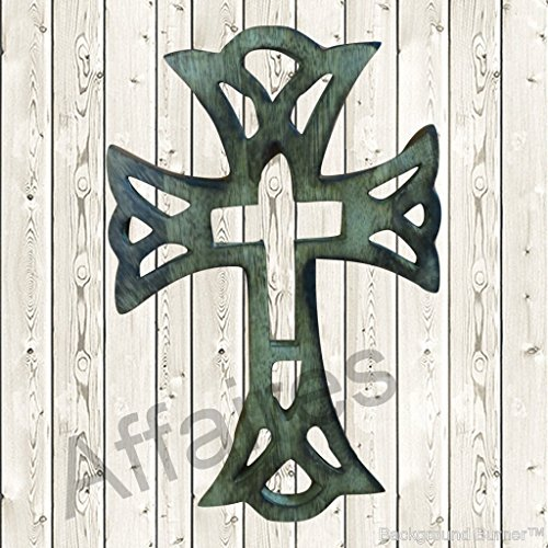 Affaires Holz christliche Kreuz, 30,5x 20,3cm lang Aufhängen mit Hand Figuren Religiösen, ideal Geschenk für Weihnachten oder Geburtstag w-40221