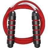 Cuerda de Saltar Ajustable de 3M, Combas de Algodón Grueso de 6 mm, Ejercicio en Casa para Niños, Adultos y Hombres, para Dep