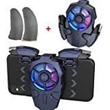 Yocy AK03 PUBG Controller Multi-function PUBG Gaming Controller Joystick Trigger kit with Mobile Phone Cooling Fan and Gaming
