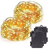 Kohree® 2pezzi Filo Catena luminosa con 12m/40ft, 120LED corda luce/bateriebetrieben con timer Indoor & Outdoor per Festival, calda