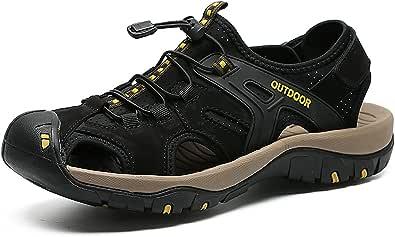 Eisrumu Mens Outdoor Hiking Sandal Sports Sandal for Men Trail Walking Sandal With Closed Toe Summer Beach Shoes Unisex