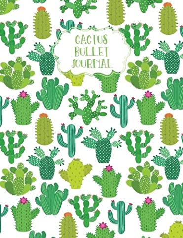 "Cactus Bullet Journal: & Succulent Boho Dot Grid Blank Notebook, 8.5"" x 11"", 1/4 inch Dot Grid, Dotted Paper, Sturdy Matte Softcover, Journaling Diary for Kids, Teens, Men & Women"