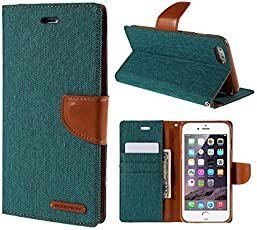 Cool & Creative Canvas Series Wallet Style Flip Cover For SAMSUNG GALAXY A5 (2016) (Green)