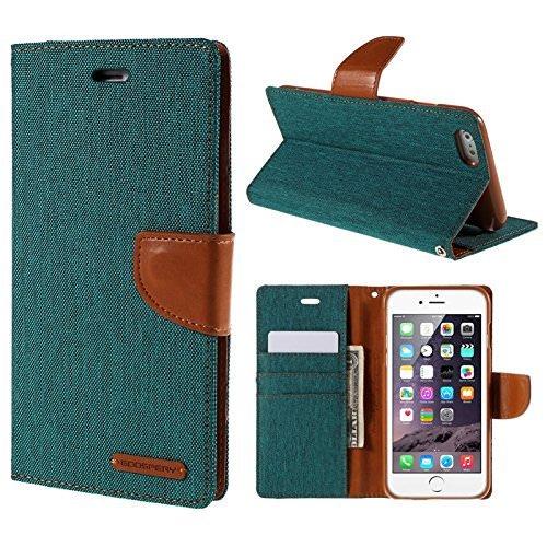 Desi Jatt Canvas series Royal Wallet Style Flip Cover For Karbonn Titanium S5 Plus (Canvas Green )