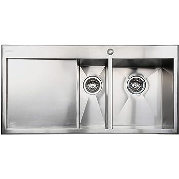 Valle Quebec 1000 x 510mm Left Hand 1.5 Bowl Kitchen Sink ...