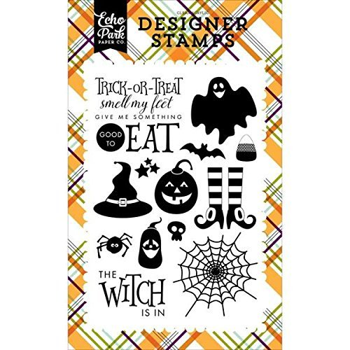 Echo Park Halloween The Witch is In Designer Stamp Set by Halloween