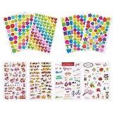 PandaHall Elite - 60pcs Wordart Word Aufkleber und Englisch Wörter Sticker Papier Tags für DIY Scrapbooking Kinder Album, Gemischte Farbe
