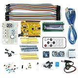 Uno R3 Breadboard Advance Kit für Arduino Micro USB mit Sensoren LCD Display Jumper Summer Kondensator Modul Widerstände für Arduino