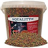 aquality Premium Koi pellets 6mm | 5000ml (Excelente pescado Forro para todos los peces en el estanque y Contiene muchos Valioso ingredientes naturales, vitaminas y oligoelementos, para una Desarrollo saludable y ausprägung de color intenso de los peces que)