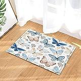 gohebe Watercolor Flying Schmetterlinge in Vintage Decor Bad Teppiche rutschhemmend Fußmatte Boden Eingänge Innen vorne Fußmatte Kinder Badematte 39,9x 59,9cm Badezimmer Zubehör