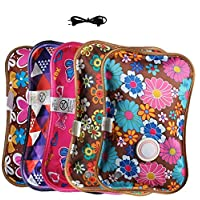 Torixbay Rechargeable Safe Electric Hot Water Bottle, Winter Hand Warmer,Winter Warm Accessories Outdoor Home Bag, Heat Storing Artifact, Random Color 19 x 27 CM