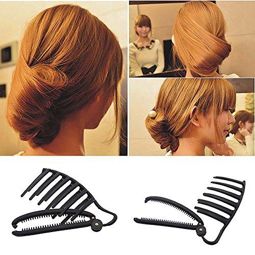 HuntGold Damen DIY Schnelle Haarstyling Volume Boost Kamm ClipWerkzeug Französisch Spiral Hersteller Set