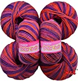 #5: Vardhman 100% Acrylic Wool Multi Violet (Pack of 6)