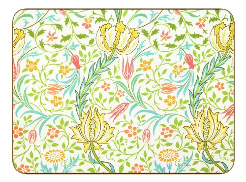 Castillo melamina William Morris Flora manteles -