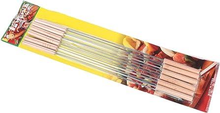 Miamour Barbeque Skewer Set (Multicolour, 12-Pieces, Metal)