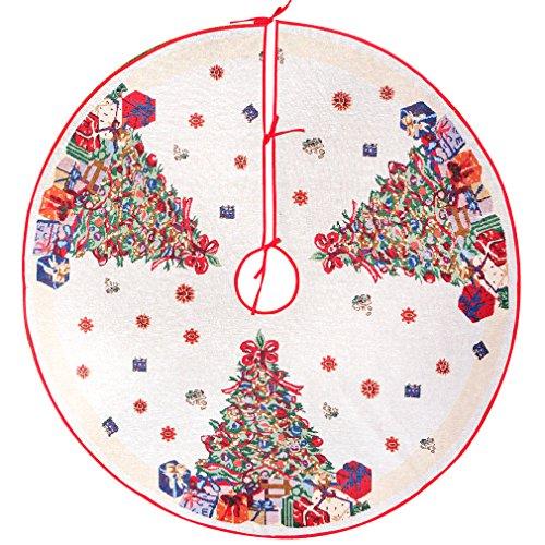 arelux LED Base de árbol de Navidad | Árbol de temporada adornos con óptico fibers| vacaciones árbol de Navidad–brilla árbol de Navidad falda | 54pulgadas–-Super gran tamaño para más Regalos y regalos