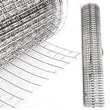 DXP Rete metallica Voliere recinzione giardino recinto rete metallica a Fil di ferro per recinzione 25m filo rotolo | Altezza 100cm