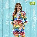 Funnysuits Peacemaker 60er Damen Anzug Rainbow Flower Power 2-teiliges Kostüm deluxe EU SIZE 44