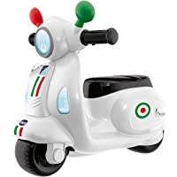 Chicco Vespa per Bambini Primavera Bianca, Moto Giocattolo Cavalcabile con Pannello Elettronico, Luci e Suoni, Ruote di…