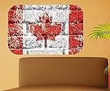 Kanada Wandbild Ahornblatt Wandaufkleber Land in Amerika Wandsticker Wohnzimmer kanadische Dekoration Aufkleber 11B382, Wandbild Größe B:144x96cm
