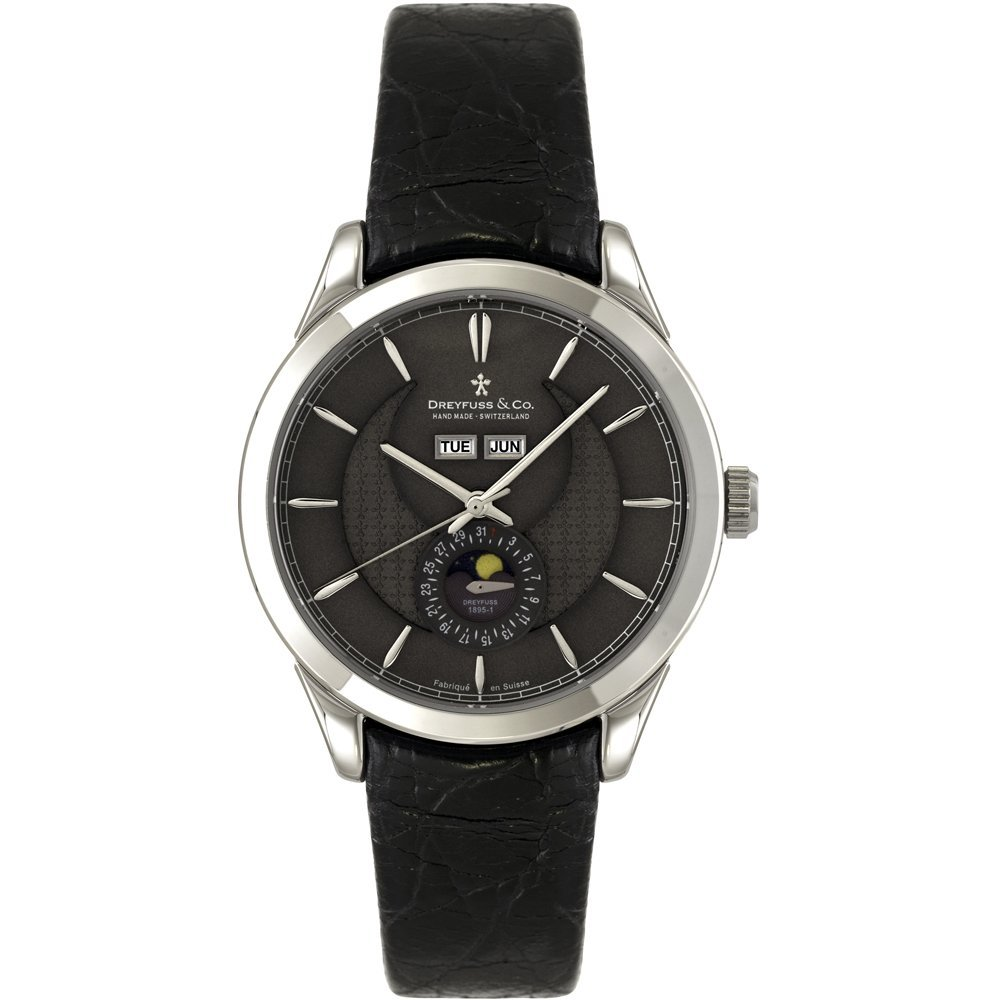Dreyfuss & Co Watch DGS00068/20 – for Men, Stainless Steel Strap Black