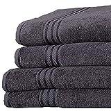 Linens Limited Supreme 500gsm Egyptian Cotton Jumbo Bath Sheet, Charcoal