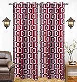 Optimistic Home Curtain Modern Box Eyelet Single 1 Piece Maroon Polyester Curtain,Window 5 Feet Amazon Rs. 99.00