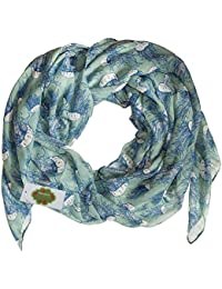 New with Tags Jellyfish Print Design Women's Scarves Large Scarfs Shawl (Sea green)