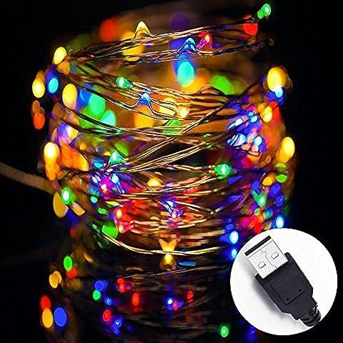 String Lights USB LED Copper Wire String Lights Warm White