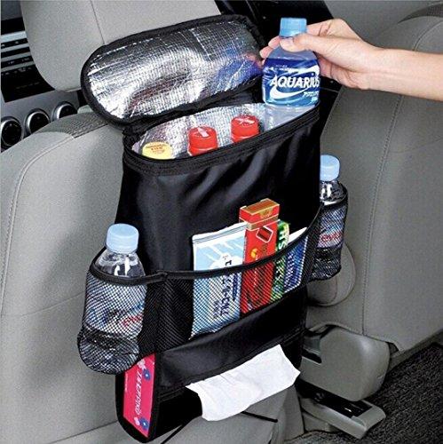 Preisvergleich Produktbild Auto Rücksitz-Aufbewahrungstasche, Kühler, Leichte Aufbewahrungstasche mit mehreren Taschen für Outdoor-Reise, Wärmeerhaltung und Kühlung für Getränke, 1Stück