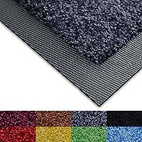 casa pura Dirt Trapper Mat - Doormat with Matching Rubber Edge   Non-slip   Absorbent   Grey, 85 x 150cm