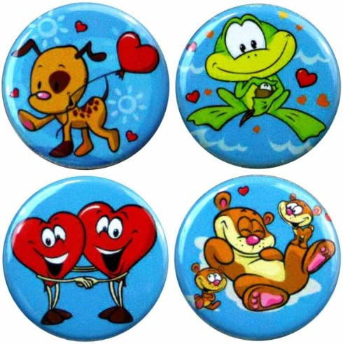 Henry The set Buttonsmith Cartoon Love Magnet set The adbbe7