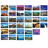 Artistic Beautiful 33 PCS 1 Set vintage Retro Postcards,The world