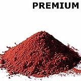 @tec Premium Pigmentpulver, Eisenoxid, Oxidfarbe - 1kg Farbpigmente/Trockenfarbe für Beton + Wand - Farbe: rot/ziegel