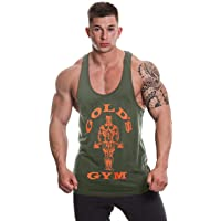 Gold's Gym UK GGVST003 Mens Training Sports Fitness Tank Top Workout Premium Muscle Joe Stringer Vest