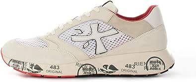 PREMIATA Scarpe Sneakers Uomo Zac Zac 5236 Camoscio Tela Bianca