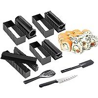 Kit de Fabrication de sushis Maison,11Pcs Moules à Sushi Cuisine Bricolage Ensemble doutils à Sushi avec 8 Moule…