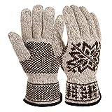 Vbiger Winter Handschuhe Warme Handschuhe Baumwolle Damen Handschuhe Winterhandschuhe Damen (Khaki)