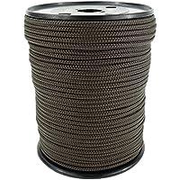 PP Seil Polypropylenseil SH 8mm 100m Farbe Braun (0124) Geflochten